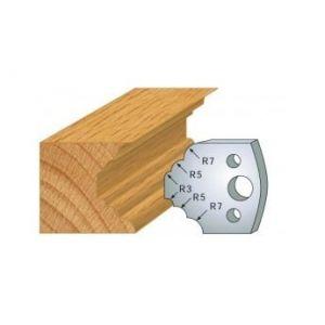 021 : jeu de 2 fers 40 mm quart de rond et congés pour porte outils 40 et 50 mm - LUXOUTILS