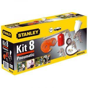 Kit 8 outils pneumatiques Stanley pour compresseur d'air