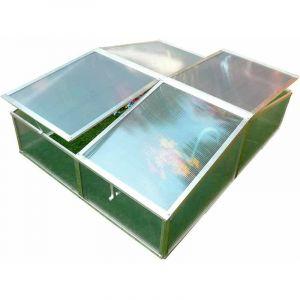 Serre De Jardin Jaca Ii À Deux Pans 108 cm x 108 cm x 40 cm Polycarbonate Transparent - Gardiun