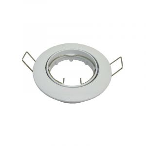 Support Blanc orientable pour spot GU10 encastrable D82 - ARUM LIGHTING