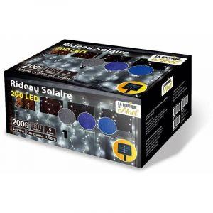 Rideau solaire lumineux à LED animé 5 fonctions 200 x 200 cm Bleu