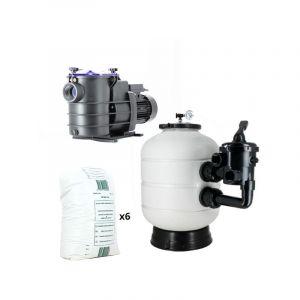 Pack filtration piscine - 8x4 m - Catégorie Kit construction piscine