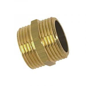 Mamelon double mâle égal 208, filetage au choix - BOUTTÉ - 15x21 (3/8')