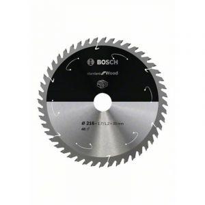 Bosch Lame de scie circulaire Standard for Wood pour scies sans fil 216x1.7/1.2x30, T48 - 2608837726