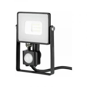 Projecteur LED Avec Détecteur Infrarouge 10 W Ip65 Samsung Chip Noir Pro Vt-10-s - Blanc Neutre - 4000k V-TAC PRO