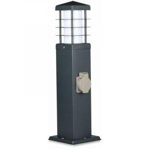 Éclairage de voie, 2 douilles, acier inoxydable, gris, H 34,5 cm, VT -1156 -2 - V-TAC