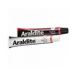 Colle 'rapide' 2x100ml en tube ARALDITE (1 lot de 2 tubes de 100 ml) - Quantité : 1 lot de 2 tubes de 100 ml