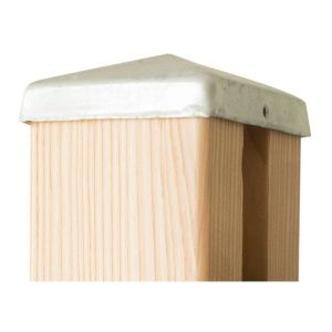 Chapeau galvanisé pour poteau de clôture bois FAREL® - YOUSTEEL