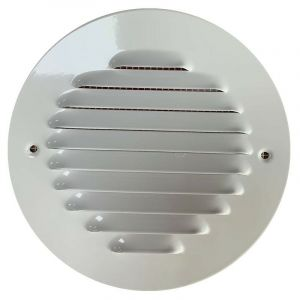 Winflex - Grille d'aération ronde ø150mm acier blanc avec écran anti-insecte - WINFLEX VENTILATION