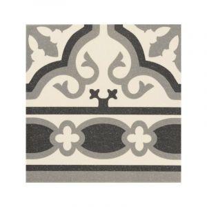 Série Florentine white 20x20 frise (carton 1,00 m²) - MANUFACTURA INDUSTRIAL AZULEJERA