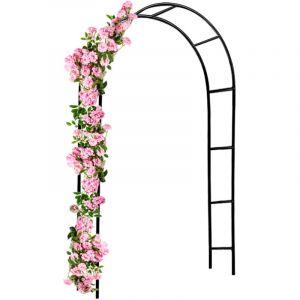 Arcade de rosiers 240x140x37cm Roses et plantes grimpantes - Jardin allée entrée - DEUBA