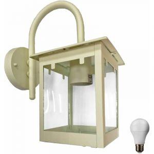 Lampe applique murale extérieure lampe d'éclairage des lampes en verre clair dans l'ensemble, y compris les lampes LED