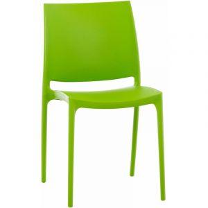 Chaise design Maya vert - CLP