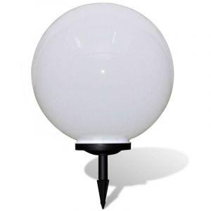 Boule solaire extérieure diamètre 50 cm luminaire décoration - Or