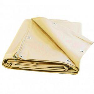 Bâche Pergola 4,1 x 3,1 m Ivoire 680 g/m2 PVC Bâche Anti UV - UNIVERS DU PRO