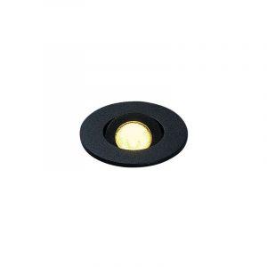 KIT NEW TRIA MINI LED rond noir 3000K 30° alim & clips ressorts inclus - SLV