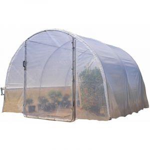 Richel - Serre 3x3m (9m2) pied droit - 1 porte centrale battante (tube 32mm film 2*180?)