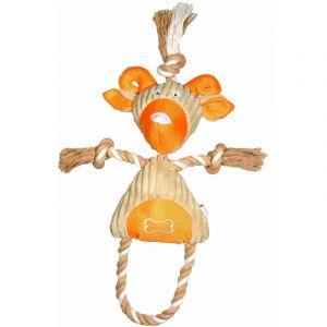 Chèvre en peluche avec corde en coton avec squeezer - BUBIMEX