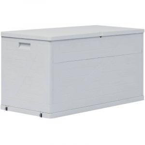 Youthup - Boîte de rangement de jardin 420 L Gris clair