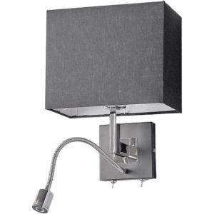 Lucande - LED Applique Murale Tissu 'Rebekka' en textile pour salon & salle à manger