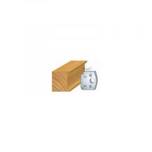 173 : jeu de 2 fers 40 mm congé quart de rond 6 mm pour porte outils 40 et 50 mm - LUXOUTILS