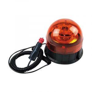 Berger & Schröter Gyrophare 20209 12 V, 24 V via réseau de bord pied magnétique, pied à ventouse, montage par vissage orange