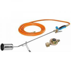 CFH GV900 Brûleur à herbes avec régulateur de pression libre et tuyau à gaz de 5 mètres