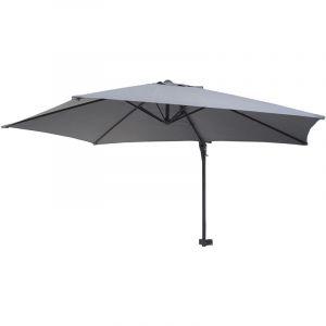 Parasol mural Casoria, parasol déporté pour le balcon, 3m, inclinable ~ gris - HHG