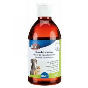 Huile de foie de morue, chien/chat, d/f/nl - 250 ml - Lot de 5 - TRIXIE