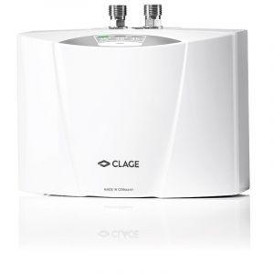 Chauffe-eau électronique instantané SMARTRONIC à commande électronique pour lavabo ou évier - MCX 6 - Débit 3,3 l/min. Puissance : 5,7 kW - 230 Volt - 25 A, avec câble - MONO - CLAGE