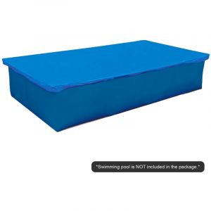 Happyshopping - Couverture de piscine carree, bleue 2,6 * 1,6 m