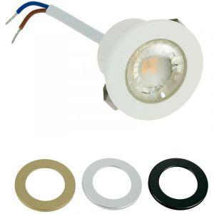 Mini spot encastrable LED 1W IP44 + 3 Collerettes | Température de Couleur: Blanc neutre 4000K