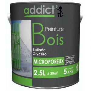 Peinture bois glycéro satin 2,5L | Couleur: Brun - RECA