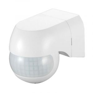 Détecteur de mouvement IR - Orientable - 180° - Infrarouge et crépusculaire - Blanc - VISION-EL