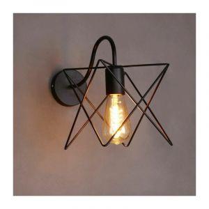 Rétro Applique Murale Industrielle Luminaire en Cage Cube Eclairage Suspension - STOEX