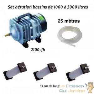 Set aération N3 bassin de jardin de 1000 à 3000 litres - LE POISSON QUI JARDINE
