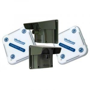 Kit avancé Protect 800 double - alerte de passage sans fil longue distance (2 récepteurs, 2 détecteurs) - ULTRA SECURE