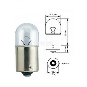 10 Ampoules R5W, 24 Volts 5 Watts Culot Ba15S - OC-PRO