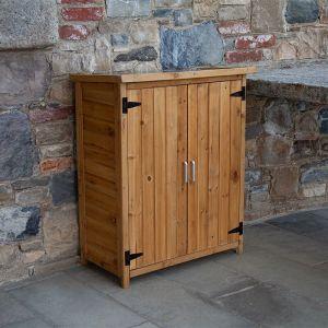 Armoire extérieur en bois Gardiun Abby 75x40x90 cm