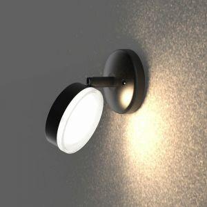 Lumihome - Applique extérieure 230V ronde VULCAN à ampoule interchangeable GX53 (non fournie) et tête orientable - Grise anthracite