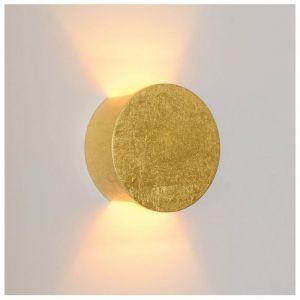 Applique lumière indirecte en plâtre - finition dorée Aries - Doré / Laiton - KOSILUM