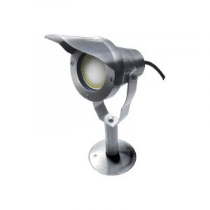 Easy Connect - Projecteur OPTIMUM 20 + Socle - Alu brossé - IP67 - MR20 - LED 6,5 W - Warm