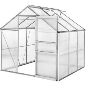Tectake - Serre de Jardin Polycarbonate 3,7 m² + 1 Lucarne