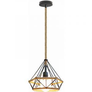Lustre - suspension corde de chanvre - diam: 25cm - STOEX