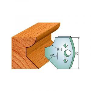 569 : Jeu de fers chanfrein / 1/4 de rond ( 50 x 4 mm ) porte outils toupie - LUXOUTILS