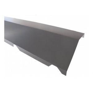 Faitière crantée sur mur pour bac acier 1045 - L 2100mm - Coloris - Gris anthracite RAL 7016, Hauteur - 170 mm, Largeur - 160 mm, Longueur - 2100mm - MCCOVER