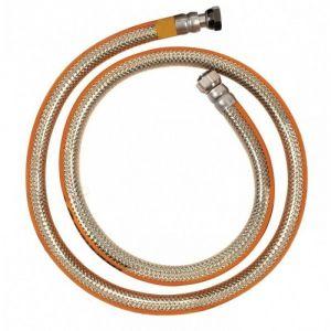 Tuyau de gaz Butane et Propane NF à visser en inox 1,50 m - Sans date limite d'utilisation - TUY4010 - Ribiland - - - RIBIMEX