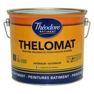 Peinture mate de qualité supérieure classée Ecolabel, recommandée pour les plafonds : Thelomat - RAL 1005 Jaune miel - 3L - PEINTURES THEODORE