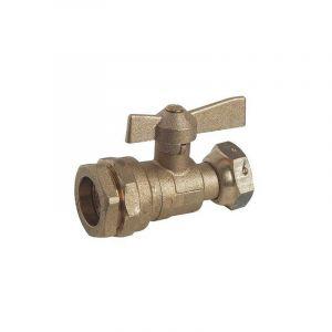 SOMATHERM Robinet d'arret - Compteur droit a boisseau sphérique équerre - 32-26/34