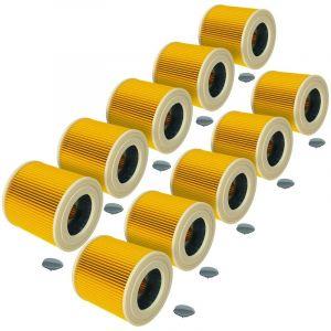 vhbw® 10x filtre à cartouches pour aspirateur robot aspirateur multi-usages Kächer comme Kärcher 6.414-552.0